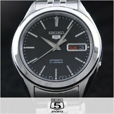 SEIKO 5 SNKL23 SNKL23K1 21 Jewels Automatic BLACK 30m WR Box & Manual !