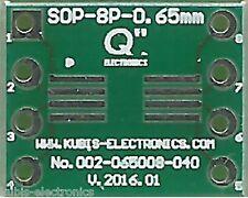 Płytka SOP8,MSOP8,TSOP8 0.65mm na podstawkę DIP8 0.4 cala. [PL]