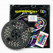 SUPERNIGHT® 5M Waterproof 300LED Strip Light Black PCB+24key Controller 12v. 2a
