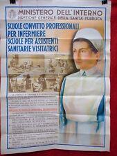 MANIFESTO ORIGINALE DEL MINISTERO DELL'INTERNO SCUOLE PER INFERMIERE ANNO 1942