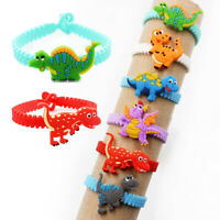 Lots Unicorn Dinosaur Silicoen Bracelet Kids Brithday Wedding Party Favors Gift