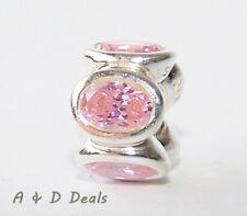 Pandora Genuine Sterling Silver Pink Oval Lights Charm #790311PCZ - RETIRED