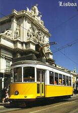 Ansichtskarte: Straßenbahn Lissabon - eletrico - vor der Basilica da Estrela