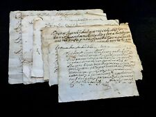 LOT OF SIX SPANISH DOCUMENTS 1600s