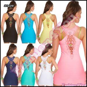 Sexy Women's Mini Dress Casual Ladies Summer Short Dress One Size 6,8,10,12 UK