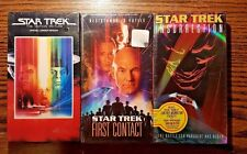Lot 3 Star Trek VHS Movies First Contact Insurrection Factory Sealed
