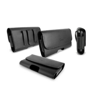 For Apple iPhone 12/iPhone 12 Pro MAX Premium Leather Pouch Belt Holster Case