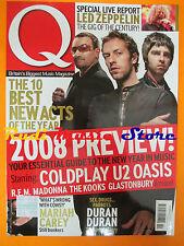 Q Magazine 259/2008 Led Zeppelin U2 Oasis Coldplay Madonna Duran Duran  No cd