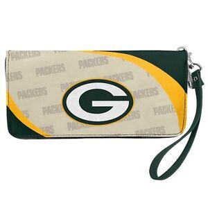 Green Bay Packers NFL Women's Curve Zip Organizer Wallet / Purse