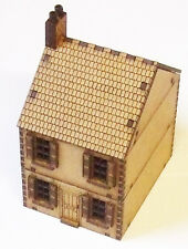 15mm Scale  WW2 Terraced House MDF Kit Style 2 , FOW Flames of War