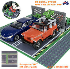BASE PLATE SPECIAL MADE CITY ROAD STREET WITH PARKING - 32x32 STUDS FITS LEGOS