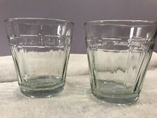 Longaberger woven traditions set of 2 juice tumbler glasses Oh3722
