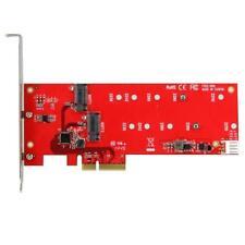 STARTECH 2x M.2 SSD Controller Card - PCIe - PCI Express M.2 SATA III Controller