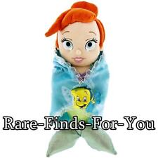 "Disney Parks Little Mermaid Princess Ariel Blanket Baby Plush Doll Toy 10"" (NEW)"