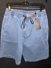 Rag Bone Mens Shorts Size L Blue Cotton Retail Tetail $195 Saks 5th NYC