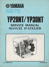 1984 YAMAHA WATER PUMP YP20NT/YP30NT SERVICE MANUAL LIT-19616-00-07 (392)