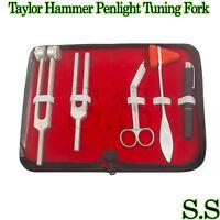 "5 pcs Reflex Percussion Taylor Hammer Penlight Tuning Fork C 128 C 512 5.5"""