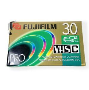 NEW SEALED Fujifilm VHS-C Pro TC30 Camcorder Videocassette