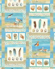 Ocean Nautical Birds Feathers Scenes Cotton Fabric Northcott Shore Thing By Yard