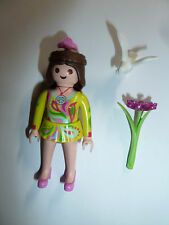Playmobil hippie flower child action figure toy nature girl Series 7 green dress