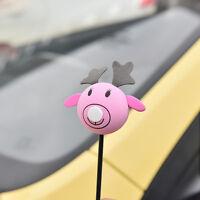 1 Pc Pink Elk Antenna Balls Car Aerial Ball Antenna Topper FO