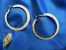 Diamante fashion Large Hoop Earrings sparkle party jewellery