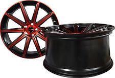 4 GWG Wheels 22 inch STAGGERED Red MOD Rims fits CHRYSLER 300C SRT8 2005 - 2018