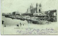 MARSEILLE CPA Litho-AK um 1900 Hafen Schiffe Cathedrale