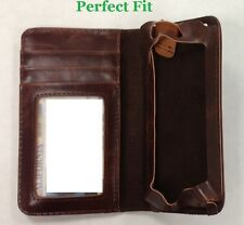 iPhone 5 Retro Book Design Flip Brown Leather Wallet Book Case GUARANTEE TO FIT