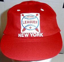 New York, Junior Leaguer, Red Baseball Cap (Infant) BRAND NEW