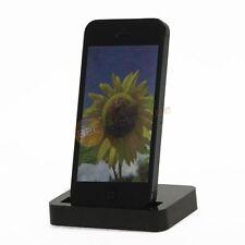 Docking Ladestation Synchronisieren Ladegerät für iPhone 5 5s in Schwarz