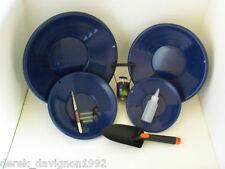 SE L2 Blue Gold Pan Panning Kit ! Pans Magnet, Vials, Sniffer, Tweezer & Trowel