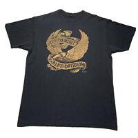 Vintage 90's Harley Davidson Live To Ride 3D Emblem Men's XL T Shirt 1991 Black
