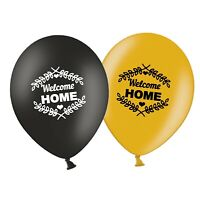 "Welcome Home - Laurels  12""  Black & Gold  Assorted Latex Balloons pack of 8"