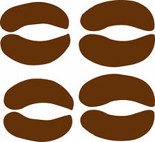 bison track / footprint sticker / buffalo hoof print decal