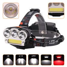 20000LM Micro USB Kopflampe Stirnlampe Rot Weiß 4LED Strobe NotfallLicht Fackel