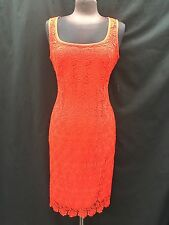 ANNE KLEIN DRESS/NEW WITH TAG/RETAIL$149/RED/LINED/LACE DRESS/SIZE 16/LENGTH 42""