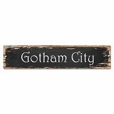 SP0010 Gotham City Street Sign Bar Store Shop Pub Cafe Home Shabby Chic Decor