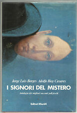 Borges Bioy Casares I SIGNORI DEL MISTERO ANTOLOGIA POLIZIESCO Ed. Riuniti 1982
