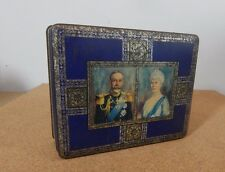 1935 McVities And Price King George V Silver Jubilee Tin 14cm x11cm x4cm