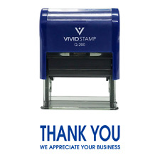 Thank You We Appreciate Your Business Self Inking Rubber Stamp (Blue) - Medium
