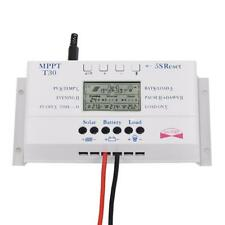 LCD 30A 12V/24V MPPT Solar Panel Regulator Charge Controller&USB Three timer #JN