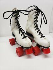Vintage Roller Derby Leather LaBeda Roller Skates Size 7 Preowned Red Wheels