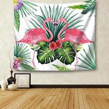 Flamingo Pattern Wall Hanging Mat Tapestry Plant Bedspread Throw Home JJ