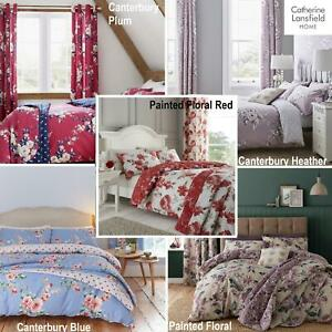 Catherine Lansfield Floral Duvet Cover Bedding Bed Set Or Acessories