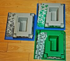3 Lego 3D Base Plates, Pirates Fortress, #2552
