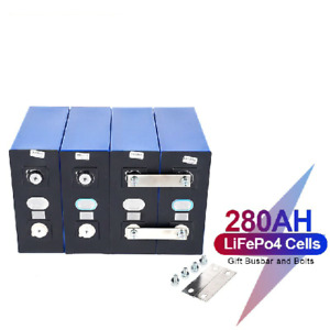NEW 4PCS 3.2V 280ah lifepo4 Rechargeable Battery