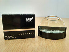 Presence by Mont Blanc for Men EDT 5ml for Mini Perfume Miniature New w/ Box