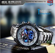TVG New Trendy Men's Sport Clock Fashion Blue Binary LED Pointer Watch