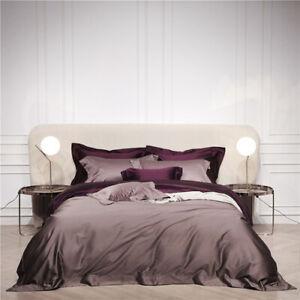 2020 New Egyptian cotton bedding bedspread purple duvet cover 4/7 pcs pillowcase